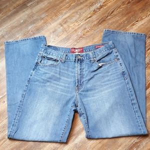 Lucky brand relaxed straight denim jeans